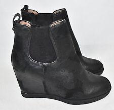 Donald J Pliner 'Dillon' Wedge Platform Bootie Black Vintage Suede Size 8.5 M