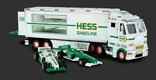 2003 Hess Toy Truck and Racecars w/Pull-Back Motors Head Tail Lights 2 Cars NIB