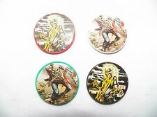 New Lot of 4 Vintage IRON MAIDEN Casino Poker Chips Card Marker Killers Trooper