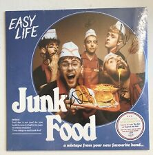 EASY LIFE - JUNK FOOD LTD YELLOW MUSTARD HAND SIGNED RECORD SEALED AUTOGRAPHED