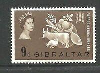 Album Treasures Gibraltar Scott # 161 Freedom From Hunger  Mint LH
