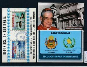 D148005 Guatemala 3 Values of S/S's VFU