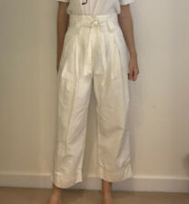 H&M High Waisted White Trousers