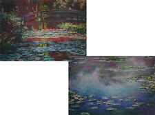 Claude Monet - Japanese Footbridge 3D Animated Postcard  & Le bassin aux nymphéa