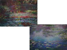 Claude Monet - Japanese Footbridge 3D Animated Postcard  & Le bassin aux nymphéa