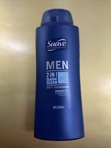 SALE 🔥Suave 28 oz Men 2 in 1 Classic Clean Anti Dandruff Shampoo Conditioner🔥