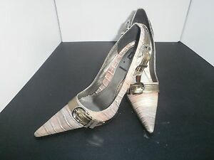 Ladies Crocodile Style Pointy High Heels Size7