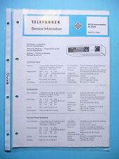Service Manual-Anleitung für Telefunken Küchenradio K 205  ,ORIGINAL