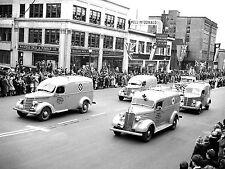 1942 International D 2 Ambulance On Parade Canada  8 x 10 Photograph