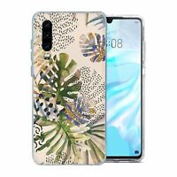 For Huawei P30 Silicone Case Nature Leafs Art Print - S6922