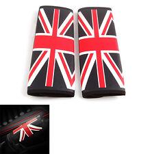 2pcs UK Union Jack Car SUV Seat Belt Cover Pads Shoulder Cushion For Mini Cooper