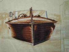 Beautiful mahogany motor boat nautical shirt Chris-Craft 2XLT or 3XLT Harbor Bay