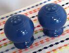 Fiestaware Lapis Salt and Pepper Shakers Fiesta Set of Blue Ball Shakers