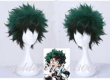 "12""30cm Super My Hero Academia Deku Izuku Midoriya Cosplay Wig Party Wigs"