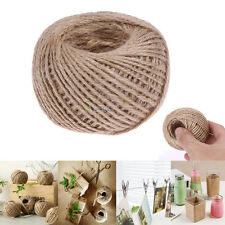 1 Roll 50m Natural Brown Jute Hemp Rope Twine String Cord Shank Craft Making DIY
