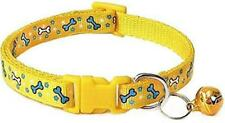 Indian Printed Adjustable Cat Everyday Collar,18-30 cm (Yellow,Small), cat strap