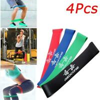 4Pcs Resistance Loop Bands Exercise Mini Band Crossfit Strength Fitness Training