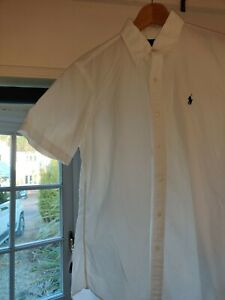 White Button Up Shirt Sleeve Ralph Lauren T Shirt