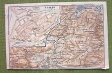 GERMANY Goslar City Plan & Environs - 1904 MAP ORIGINAL Baedeker for Genealogy