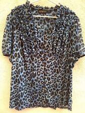 INC international conceps blouse leopard print size XL