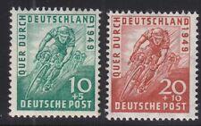 Alliierte Besetzung  1949 - Mi. 106 - 107 Radrennen postfrisch