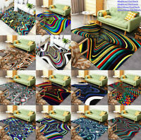 3D Psychedelic Art Pattern Floor Carpets Living Room Non-Slip Area Rug Door Mat