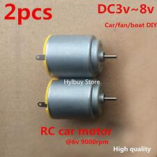2pcs Small Mini DC Motor 3V~8V 5v for RC car toy fan DIY high quality 2mm shaft