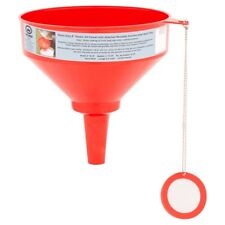 King Kooker 8-inch Plastic Oil Funnel with Stainless Steel Mesh Filter (100F)