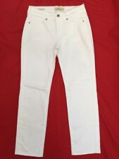 HANDCRAFTED LUCKY BRAND BROOKE CROP White Denim Jeans 00/26 EUC