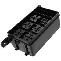 Automotive Car Fuse Relay Holder 12-Slot Relay Box 6 Relays ATC/ATO Fuses w/pins