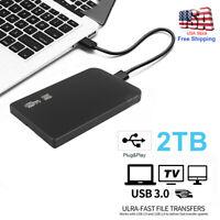 "2TB USB 3.0 Portable 2.5"" External Hard Drive Disk Ultra Slim For Laptop PC"