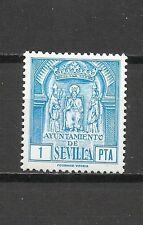 9082-SELLO FISCAL ANTIGUO NUEVO** AYUNTAMIENTO  SEVILLA LOCAL  1 PESETA