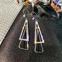 Women Charm Triangle Crystal Drop Earring Rhinestone Ear Stud Earrings Jewelry