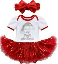 Zuckerstangen-Kleid mit Pailetten Plüsch~Weihnachtskleid 104,110,122