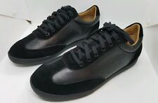 New MENS POLO RALPH LAUREN BLACK CADOC LEATHER Sneakers size 9 US