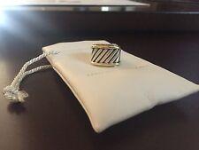 David Yurman Cigar Band ring Sterling Silver and 14K gold cable Size 4.25
