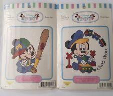 2 x Cross stitch kits - Disney Babies Mickey Mouse - Leisure Arts