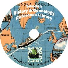 25 old books SWEDEN History & Genealogy - Swedes in America -  on DVD