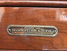 Original Vintage H.Gerstner & Sons C 92 XL 13 Drawer Oak Machinist Toolbox Chest
