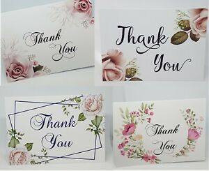 Thank You Cards A6 High Gloss Packs of 10 OR singles complete with Envelope