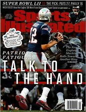 New Sports Illustrated 2017 Tom Brady Patriots Talk To The Hand No Mailing Label