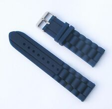 New 24mm Silicone Watch Band - Watch Strap - Navy Blue