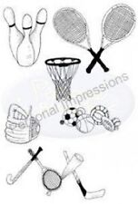 Impressions personnelles clairement timbres A6 picsa6317 sports bowling hockey balle de tennis