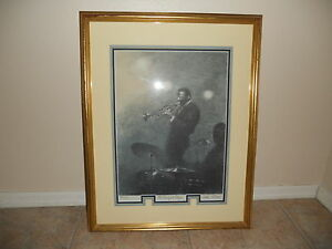 Arthur Shilstone Trumpet Player Serigraph Signed Framed Photo #147/250