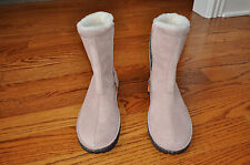 NWOB!! Womens POLO SPORT Pink W/Shearling Suede Boots Shoes Size 8 M