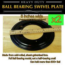 2 pcs - 8 inch (205mm) - Full Ball Bearing Swivel Plate Lazy Susan Turntable