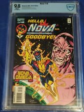 NOVA 18 CBCS 9.8 white pages Marvel 1995 last issue low print not cgc