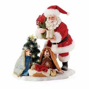 Clothtique Possible Dreams 'Puppy Christmas Pageant' 2021 Santa 6008597