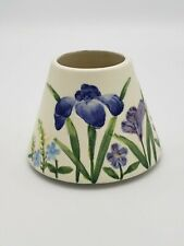 Candle Capper Ceramic Shade Flowers Blue Purple Green Floral Jar Candles Topper