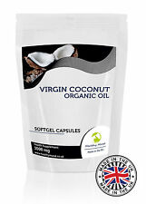 Coconut Oil 1000mg x 250 Softgel Capsules Food Supplements Nutrients